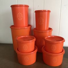 Tupperware Servalier Canisters and Storage by RetroResaleSanDiego
