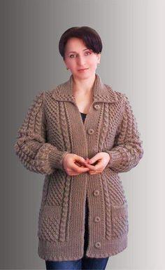 Добавить описание Knitting Kits, Sweater Knitting Patterns, Knitting Designs, Knit Patterns, Baby Knitting, Crochet Summer Hats, Knit Cardigan Pattern, Knitted Coat, Baby Sweaters