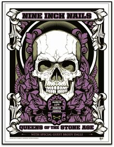 Queens of the Stone Age & Nine Inch Nails Hydro74 Perth Poster World Premiere Exclusive #illustration #ilustracion