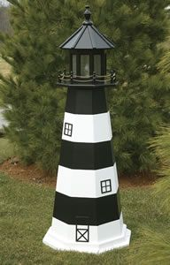 48 Quot Solar Lighthouse Wooden Well Pump Cover Decorative