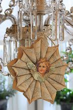 Book Page Angel Ornament