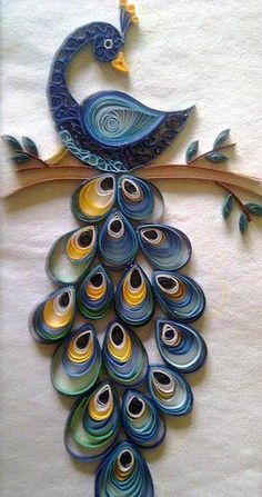 19 Quick Paper Quilling Ideas For Beginners – Quilling Techniques Peacock Quilling, Arte Quilling, Paper Quilling Cards, Quilling Letters, Quilling Work, Paper Quilling Flowers, Paper Quilling Patterns, Origami And Quilling, Quilled Paper Art