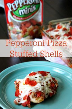 Looking for a super yummy dinner? Try my Pepperoni Pizza Stuffed Shells topped with delicious @Hormel Pepperoni! #PepItUp #Cbias #ad