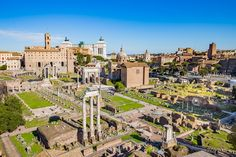 The Roman Forum was for centuries the center of Rome's public life.