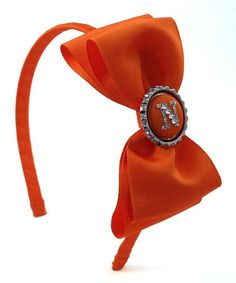 This Orange Initial Bow Tie Clip is perfect! #zulilyfinds