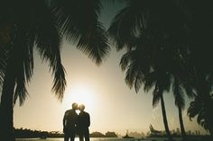 Sunset Same Sex Engagement Miami  South Pointe Park engagement session in Miami Beach by toddgood.com
