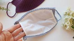 Crochet mask with liner Crochet Mask, Crochet Faces, Crochet Amigurumi, Sewing Hacks, Sewing Tutorials, Sewing Crafts, Easy Face Masks, Diy Face Mask, Knitting Patterns