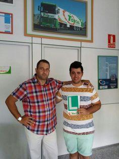 José Carlos Muñóz Aguilera desde Avenida Plutarco con su profesor Custodio