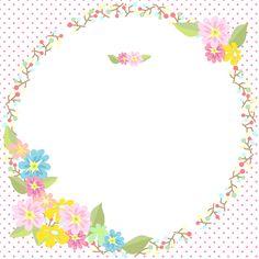 花飾りフレーム素材_招待状-カード-枠-囲みm001