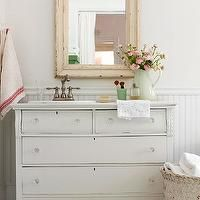 vintage bureau bathroom vanity - Google Search