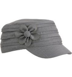 Cute! Lady Hagen Flower Military Cap.