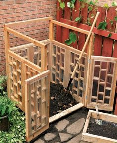 Stylish Compost Bin - The fretwork of this design gives it a Chippendale aesthetic (via BricoBistro)