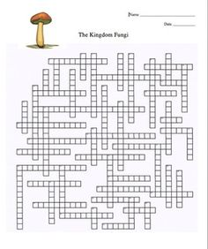 This crossword puzzle is great for vocabulary building and