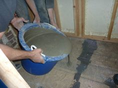 cement/concrete floor diy