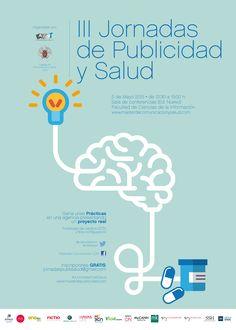 Cartel de las II Jornadas de Publicidad y Salud. Site Vitrine, Map, Media Studies, May 5, Advertising, Poster, Health, Infographic, Location Map