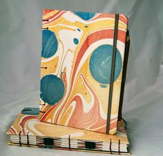 Vibrant and shimmery and guess what? The paper inside is enriched with the fiber of elephant...poo! Love it, xxx Natalie Paper Board, Portfolio Ideas, Handmade Journals, Home And Living, Book Making, Bookbinding, Booklet, New Art, Notebooks
