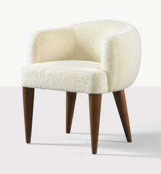 """Jean Royère, France Boule armchair, circa 1950 maple and re-upholstered seat 73 x 67 x 63 cm ; 28.75"""" x 26.38"""" x 24.75""""   ref: Sotheby's pf1704lot9dngpen"""