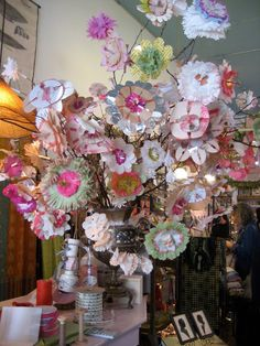 paper flowers at the yak…