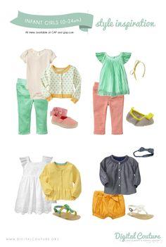 Infant Girls Style Inspiration: GAP :: Spring Session Inspiration