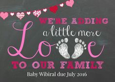 Our baby announcment for our 3rd boo boo!
