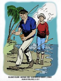 Gilligan's Island the Gilligan's Island book by William Johnston. Whitman Authorized Tv Adventures, Illustrated by Robert L. Funny Caricatures, Celebrity Caricatures, Old Tv Shows, New Shows, Cartoon Books, Classic Cartoons, Classic Tv, Cartoon Drawings, Golden Age