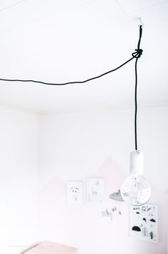 DIY air dry clay pendant lamp holder - No Home Without You