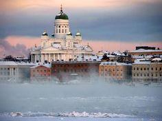 Helsinki, Finland: Winter frost