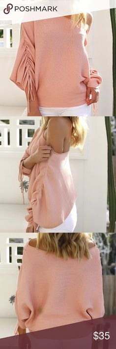Light Blush Pink Off The Shoulder Knit Sweater Light Blush Pink Off The Shoulder Comfy Knit Sweater! It is adorable for the upcoming fall! Sizes Small Medium Large Extra Large Are Available! Please Allow Up To 2-5 Weeks To Receive Due To Popularity Incase it sells out!Make Offers No Trades! Brand For Exposure Follow My Instagram- Beachybabesbtq Follow Me To See my Other Posts! Tags- Follow Game Share Pink Off The Shoulder Boho Chic Boutique Trendy Stylish Comfy Knit Sweater Sweaters Cowl…