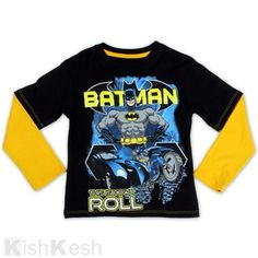 "Batman ""This is How I Roll"" Boys 2Fer Long Sleeve Top. #TShirts #BoysClothing #WinterFall"