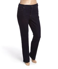 Love this Dark Indigo Mandie Straight-Leg Jeans - Plus on #zulily! #zulilyfinds