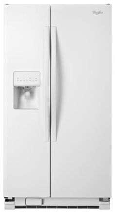 Whirlpool - 25.4 Cu. Ft. Side-by-Side Refrigerator with Thru-the-Door Ice and Water - White - Larger Front
