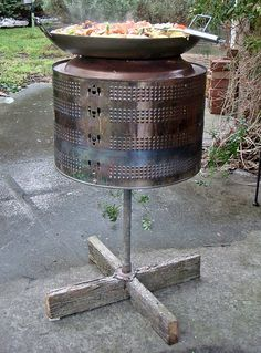 washing machine cooker.  Have also  seen these used as a fire pit