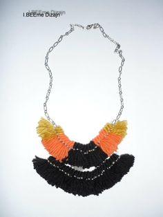 #ibeemedesign #handmade #woolnecklaces Tassel Necklace, Necklaces, Tassels, Wool, Handmade, Jewelry, Design, Jewellery Making, Chain