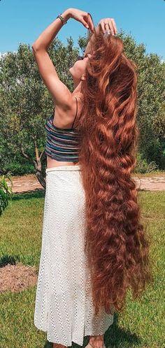 Long Red Hair, Super Long Hair, Beautiful Long Hair, Cool Hairstyles, Dreadlocks, Long Hair Styles, Celebrities, Beauty, Women