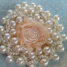 shabby chic flowers hair decoration fabric by customcardsbysarah