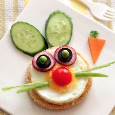 Bunny Breakfast Egg http://www.circletimekids.com/recipes/bunny-breakfast-egg# - By Little Food Junction