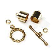 Kumihimo Findings: 10mm Gold Kumihimo Endcaps