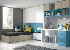 kidsroom, habitación juvenil para dos, cama plegable, canapé abatible y zona de estudio, mueble juvenil === habitació juvenil per a dues, llit plegable, canapè abatible i zona d'estudi, moble juvenil moblestatat.com horta guinardó barcelona: