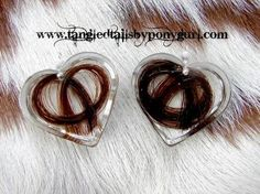 Tangled Tails by PonyGurl Custom cast Photo Pendants horse hair jewelry keepsake Horse Hair Bracelet, Horse Hair Jewelry, Animal Jewelry, Hair Jewellery, Resin Crafts, Resin Art, Hair Keepsake, Hair Jewels, Horse Crafts