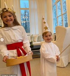 """Crown Princess Victoria of Sweden shared new photos of her children Princess Estelle and Prince Oscar with the title """"Greetings on Lucia day from Haga castle"""". The photos were taken by Crown Princess Victoria at Haga Castle. Princess Victoria Of Sweden, Crown Princess Victoria, Adele, Sankta Lucia, St Lucia Day, Pictures Of Princesses, Winter Wedding Centerpieces, Swedish Royalty, Royal Babies"""