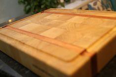 end grain cutting board,   tábua de carne end grain