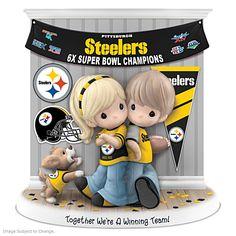 Together We're A Winning Team Steelers Figurine