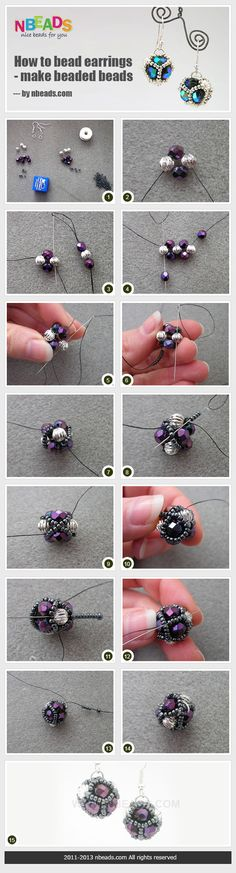 sandylandya@outlook.es  how to bead earrings - make beaded beads