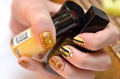 Manicure inspired by the works of Klimt Latest Nail Designs, Manicure, Nails, Klimt, Saga, Usb Flash Drive, Inspired, Nail Bar, Finger Nails