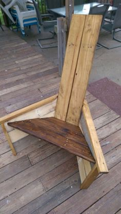 New adirondack design. I made this up as I went. I woke up with an idea in my head and this came out if it.