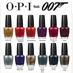 OPI Collection Skyfall 007 James Bond Winter 2012 Collection