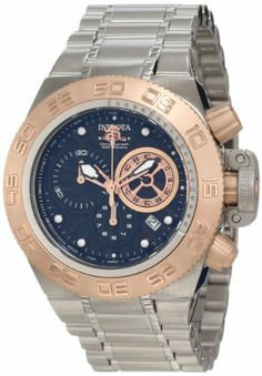 Invicta Men's 10140 Subaqua Noma IV Chronograph Black Textured Dial Watch Invicta. $187.74. Chronograph functions with 60 second, 30 minute, and 1/10th of a second subdials; date function. Black textured dial with rose gold tone and white hands and hour markers; luminous; unidirectional 18k rose gold ion-plated stainless steel bezel; 18k rose gold ion-plated screw-down pushers and crown with stainless steel protective clasp. Swiss quartz movement. Water-resistant to 500 M (164...