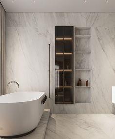 Smart Home Design, Modern Kitchen Design, Modern House Design, Spa Bathroom Design, Bathroom Interior, Bathroom Ideas, Luxury Interior, Home Interior Design, Bedroom Closet Design