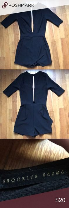 Brooklyn Karma Deep V Romper Black Deep V front and low back Romper Bought at Mixology Runs small brooklyn karma Other