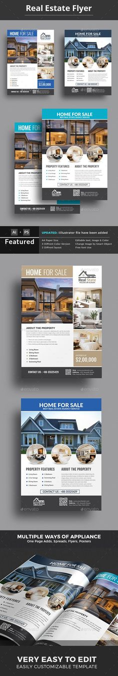 Real Estate Flyer Real estate flyers, Real estate and Flyer template - house for sale sign template